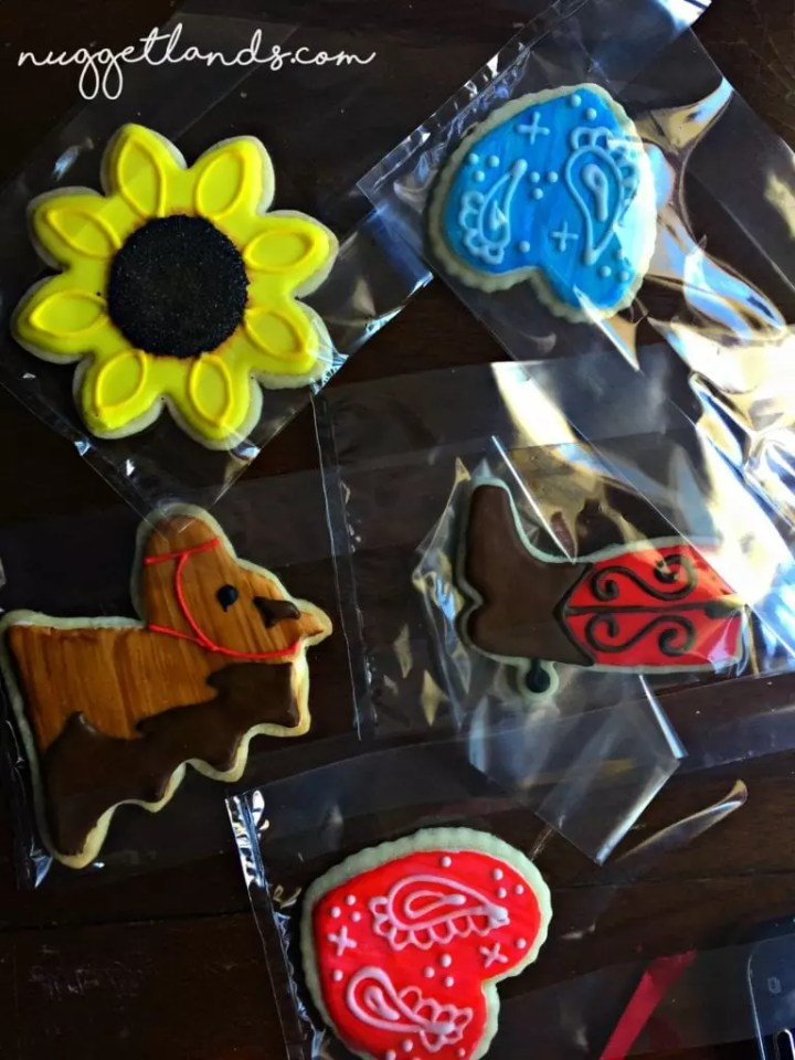Cowgirl birthday cookies