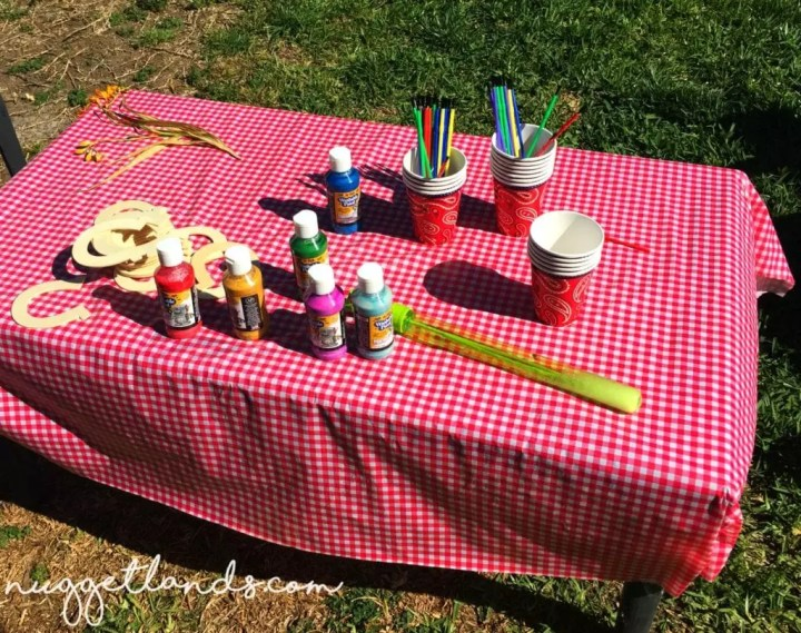 Cowgirl birthday craft table