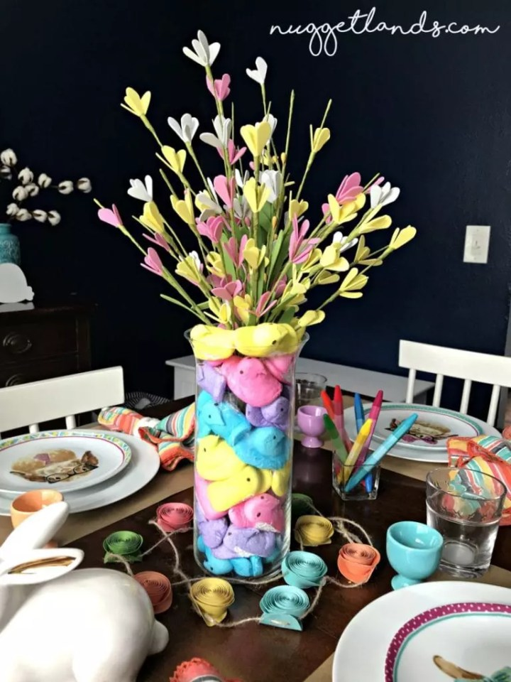 Easter kids table centerpiece