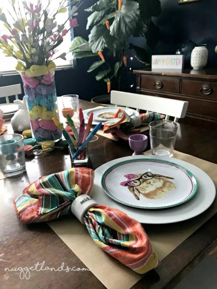 Easter kids table clara