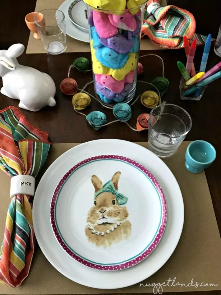 Easter kids table pick