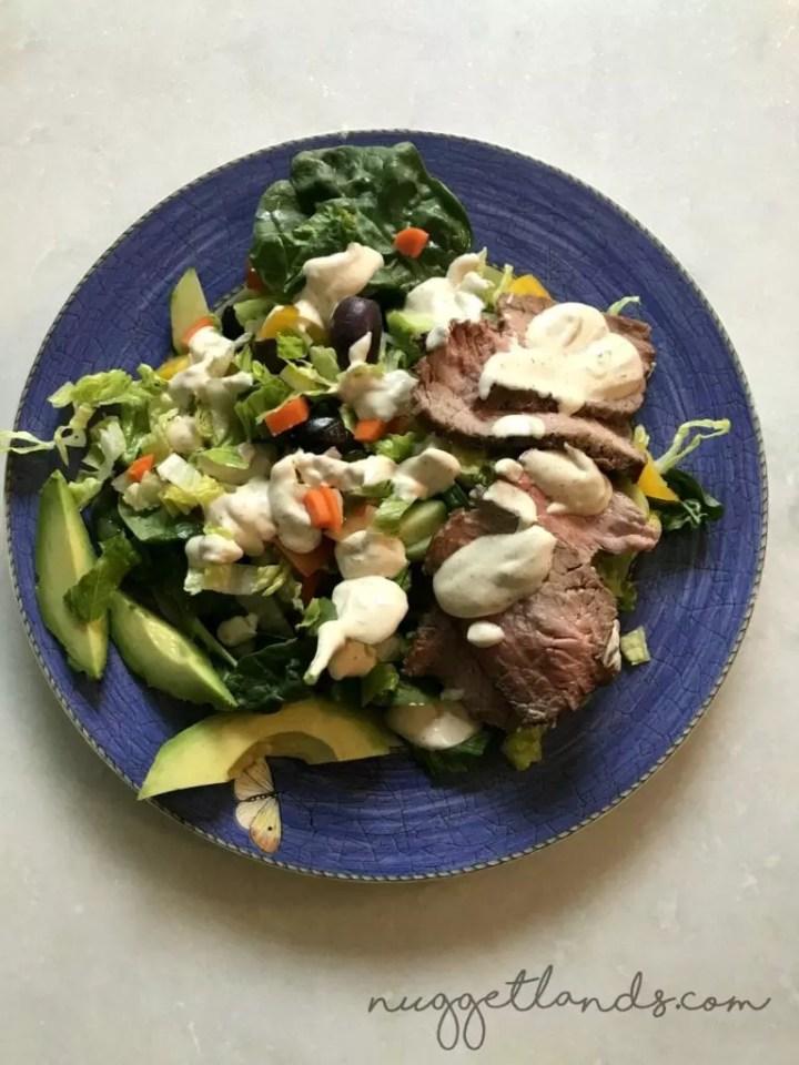 whole30 week 1 steak salad