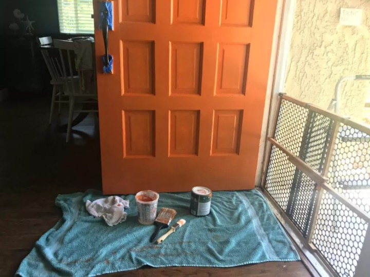 front door paint set up