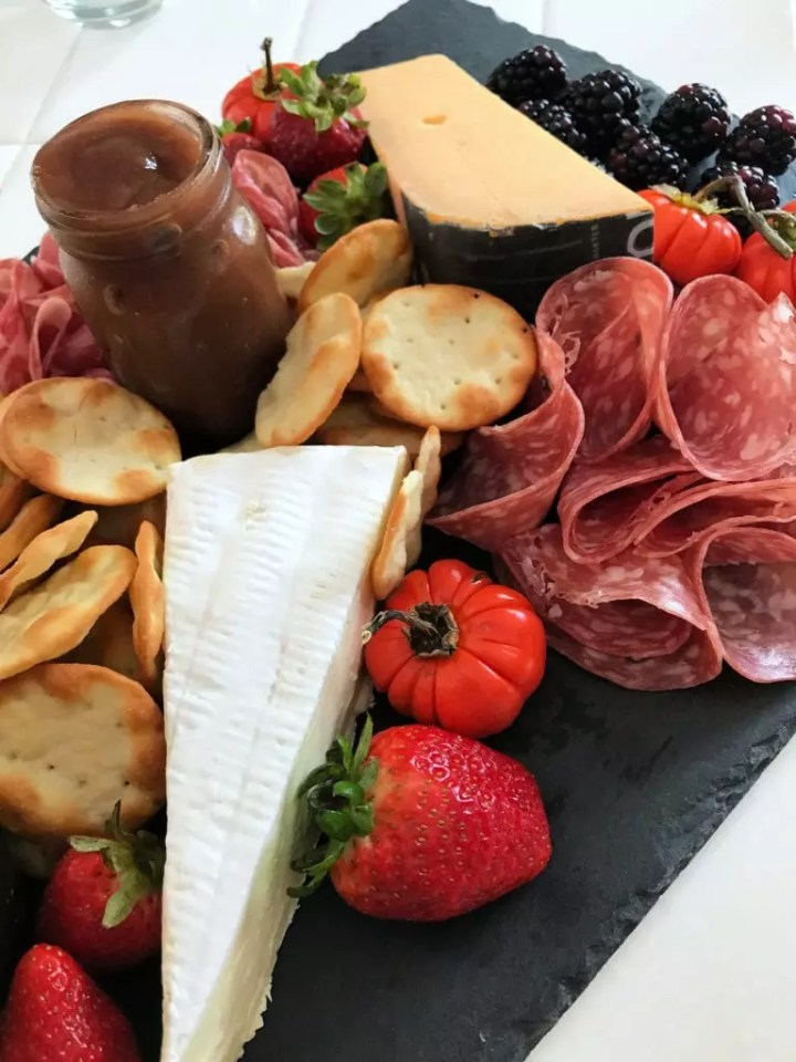 Meat and Cheese Tray Close Up