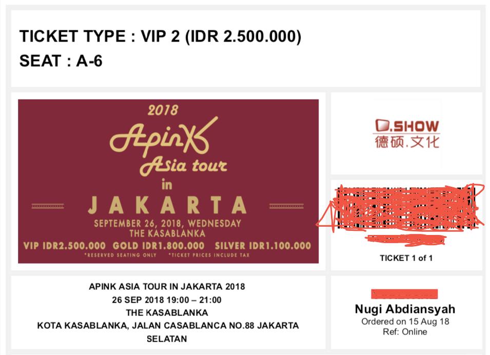Tiket Apink Asia Tour in Jakarta 2018