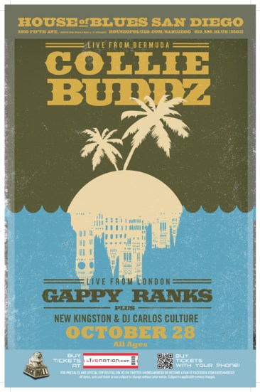 Collie Buddz With Gappy Ranks Ticket Giveaway! House of Blues San Diego!