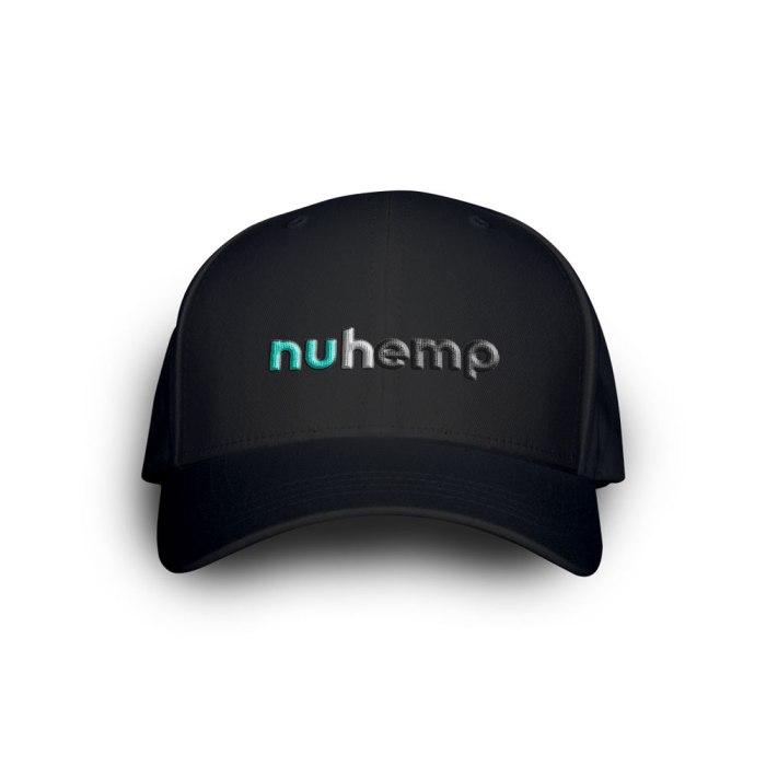 Nuhemp Black Logo FlexFit Delta Custom Logo Hat