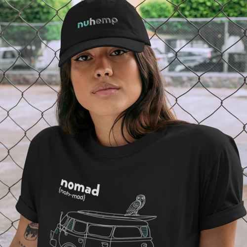 Nuhemp Black Hat Flex Fit
