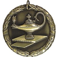 Silver Lamp of Knowledge Medal | Nu Image Engraving & Awards