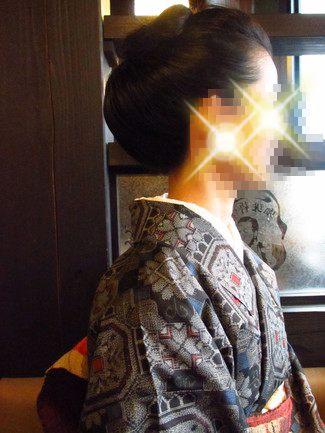 着物の髪型 結い上げアレンジ