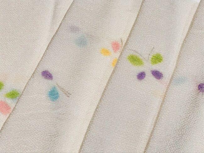 ぎをん斎藤の多色使いの蝶絞りの帯揚げ