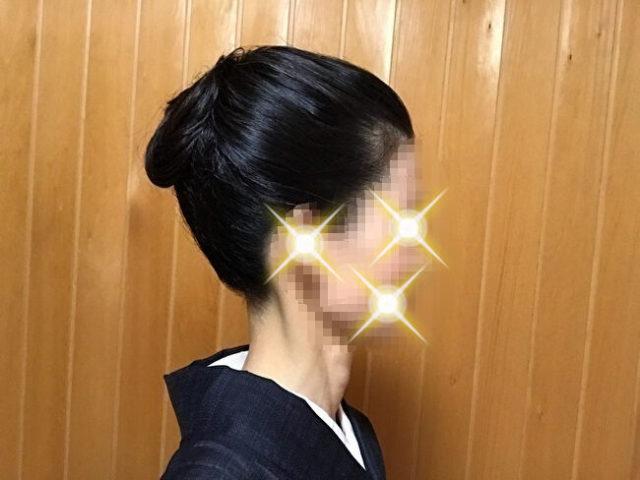 自分で出来る和髪・着物簡単セルフヘアアレンジ・「簡単」「短時間」「綺麗」に作れる結髪・右側