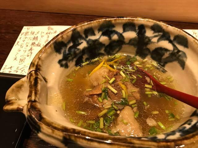「日本食とワインかわはら」テールスープ