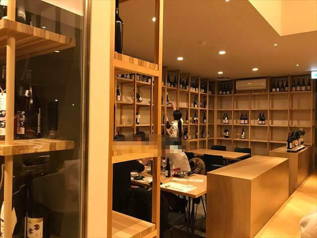 「日本食とワインかわはら」店内の様子