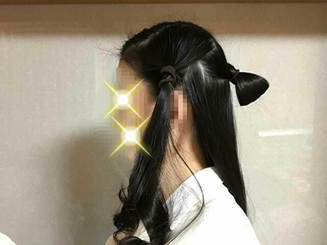 着物の髪型のアップのやり方、手順・土台作り