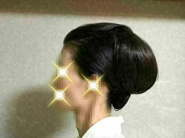 着物の髪型 40代50代 簡単に自分で出来る訪問着に合う和装ヘアアレンジ ロング 左サイド