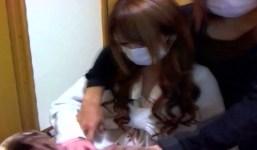 【個人撮影】マスクで顔隠し、ギャル系で可愛い気な女の子のパイパンマンコド...