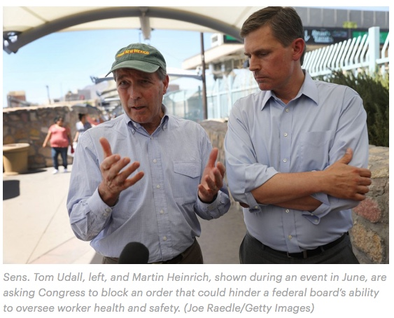 NM Sens. Tom Udall, left, and Martin Heinrich