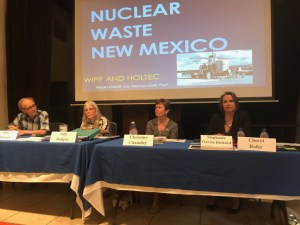 Participating in a panel on nucelar waste in New Mexico Wednesday in Santa Fe