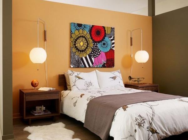 Interior Kamar Tidur Warna Oranye