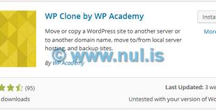 Backup Blog WordPress dengan WP Clone