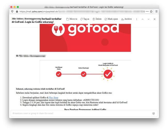 Pengalaman Daftar Merchant GoFood - Berhasil Terdaftar di GoFood