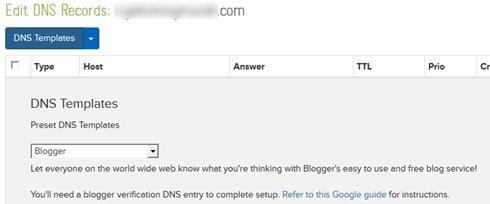DNS Templates Name-com