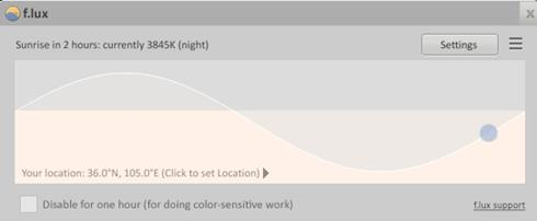 Flux Aplikasi Pengatur Brightness