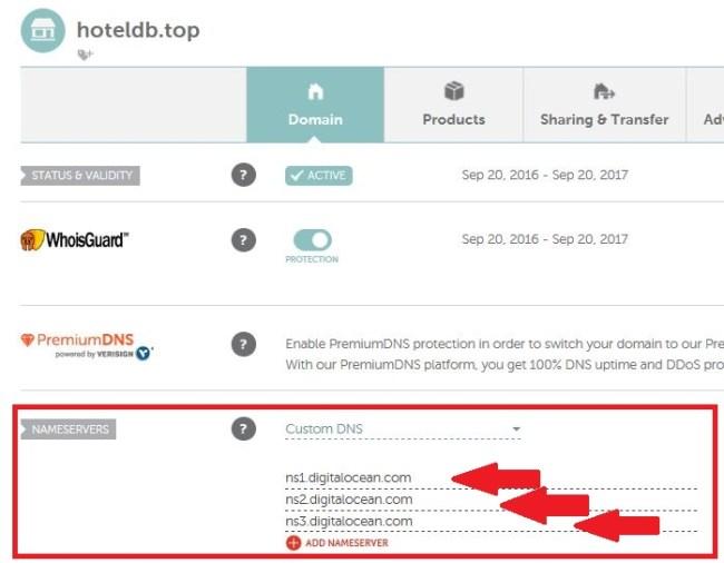 Ganti Nameserver Domain ke DigitalOcean