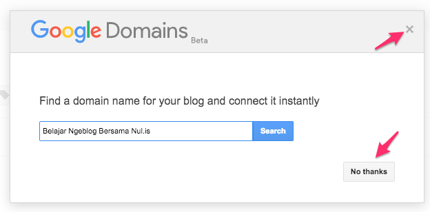 Cara Hemat dan Mudah Membuat Blog untuk Pemula #1 - Google Domains