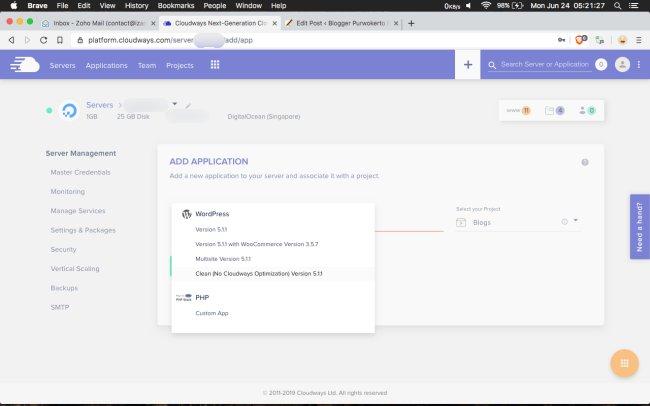[Review] Pindah ke Cloudways - Solusi Hemat dan Mudah Pakai VPS - Install WordPress di Cloudways