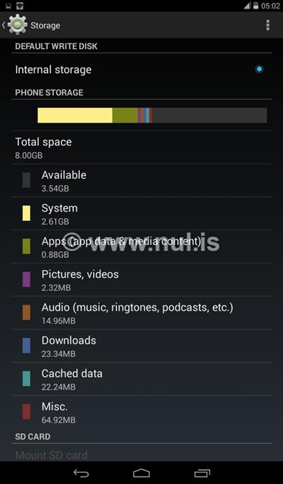Kapasitas Memory Acer Iconia Tab 7