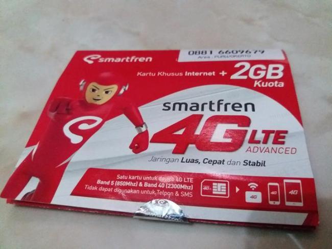 Kartu Perdana Smartfren Khusus Internet 4G LTE Advanced