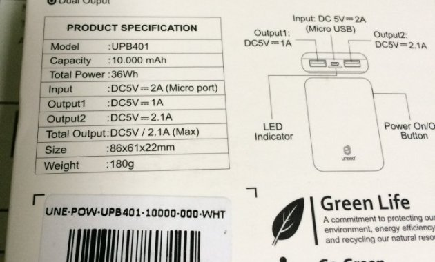 [Review] Power Bank UNEED CompactBox 10.000 mAh - Kemasan Uneed CompactBox