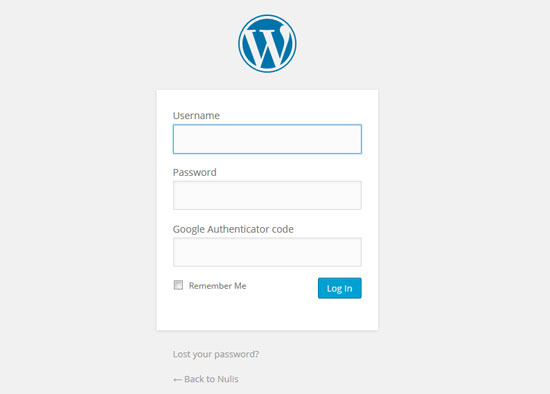 Login-WordPress-Org-Google-Authenticator