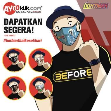 Masker Kain Lightman Berkualitas dengan Desain Ciamik Hanya di Ayooklik - Masker Kain Ayooklik