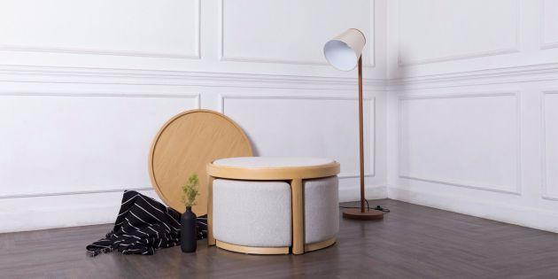 Harga Set Meja Kursi Ruang Tamu Model Minimalis Modern 2020 - Meja Yujin Coffee Table 1