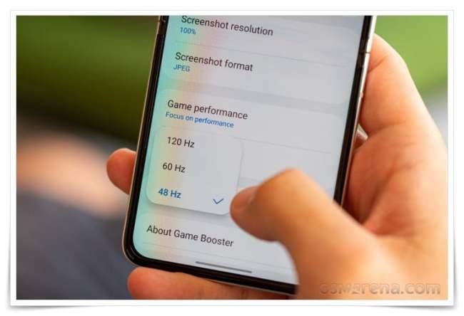 Opsi Refresh Rate Galaxy Z Flip3