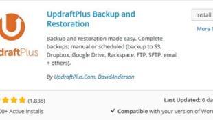 Backup Blog WordPress ke Dropbox dengan Updraft Plus - Plugin Backup WordPress UpDraft Plus