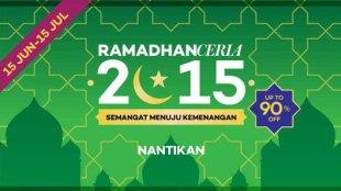 Acara Ramadhan Ceria Dari Lazada, Diskon up to 90% - Ramadhan Ceria
