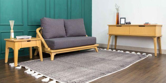 Harga Set Meja Kursi Ruang Tamu Model Minimalis Modern 2020 - Sofa Set Kimi 2 Kursi
