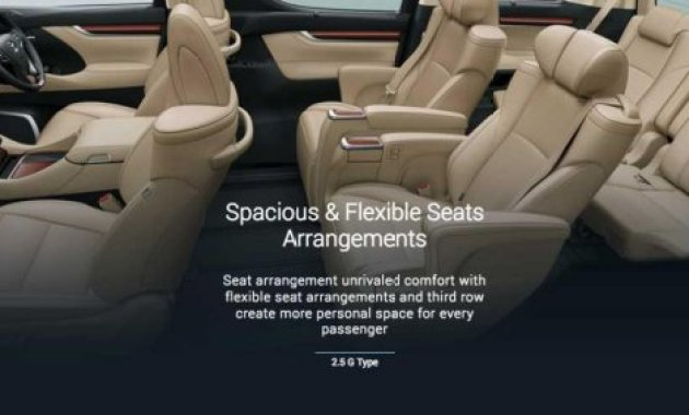 Istirahat Santai dalam Kelegaan Kabin Toyota Alphard - Toyota Alphard