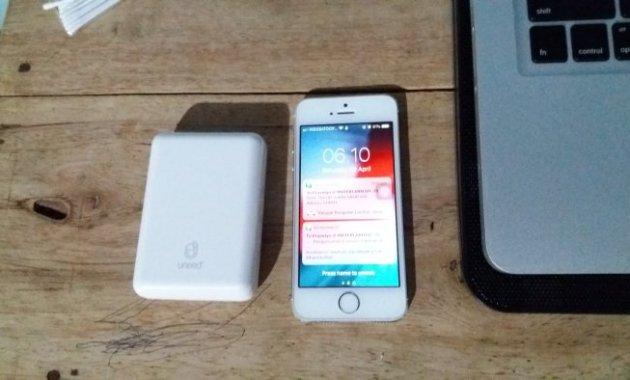 [Review] Power Bank UNEED CompactBox 10.000 mAh - Ukuran Uneed CompactBox 10 iPhone 5s