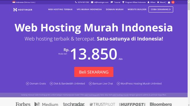 Hostinger Indonesia - Web Hosting Terjangkau untuk Blogger Indonesia - hostinger hosting indonesia 2