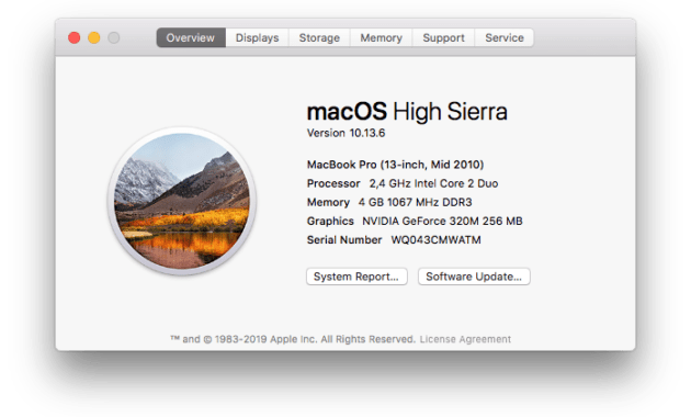 Upgrade Laptop Pakai SSD + Upgrade macOS High Sierra - macOS High Sierra di MacBook Pro 13 Mid 2010