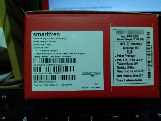 modem mifi smartfren m3z