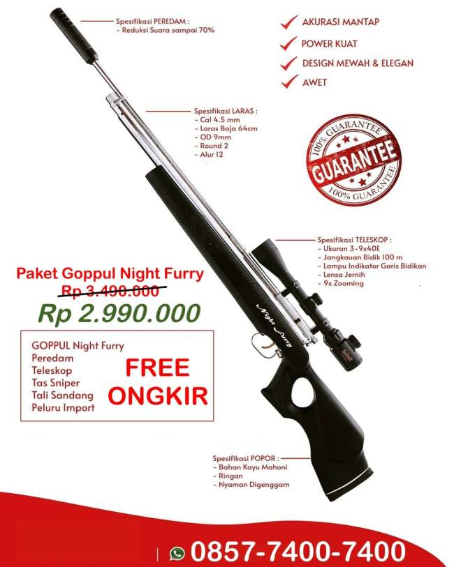 paket senapan angin gratis ongkir seluruh indonesia