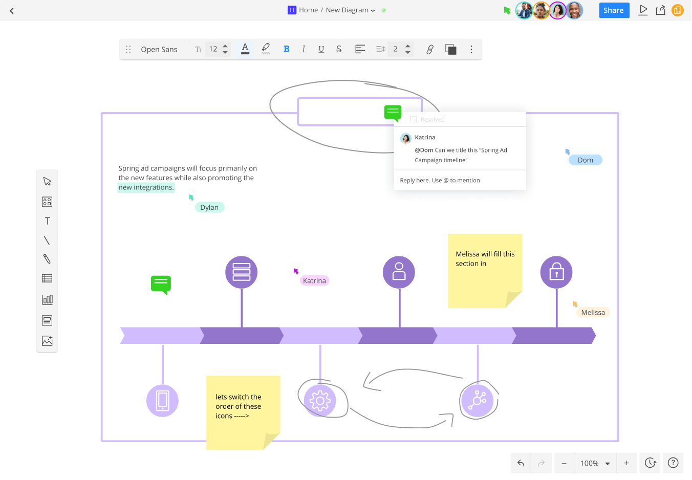 hight resolution of online diagramming meets team collaboration cacoo users collaborate and comment on a diagram