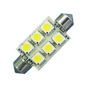 LED S8 Festoon Buislamp 6 SMD Warm wit
