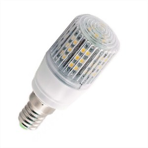 E14 Ledlamp 24 SMD 12 of 24 Volt Warm wit